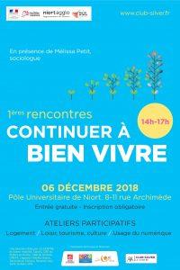 L'affiche officielle des rencontres continuer à bien vivre à Niort